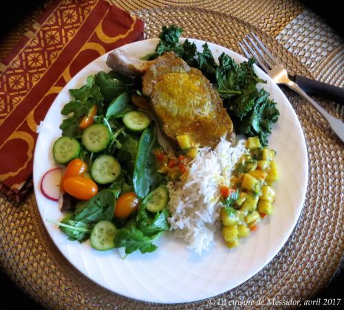 C telettes de porc sauce l indienne de messidor passion recettes - Cotelette de porc coupe hotel ...
