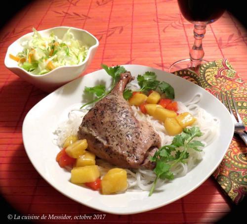 Cuisses de canard confites sauce aigre douce l ananas de messidor passion recettes - Recette de cuisse de canard en sauce ...