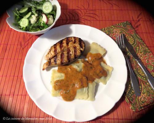 Darnes de saumon bbq sauce ros e express de messidor passion recettes - Sauce pour saumon grille barbecue ...