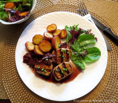 m daillons de porc bbq sauce au vin rouge et aux champignons de messidor passion recettes. Black Bedroom Furniture Sets. Home Design Ideas