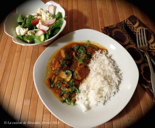 Mijoté de porc aux épices, carottes et champignons +  de Messidor