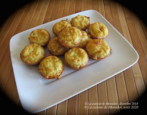 Mini-quiches à l'oignon et au fromage +  de Messidor