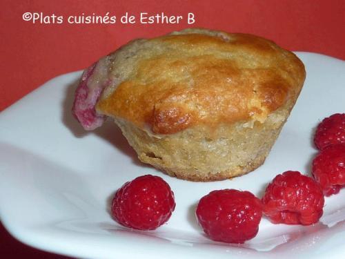 Muffins Aux Framboises Et Chocolat Blanc De Esther B Passion Recettes