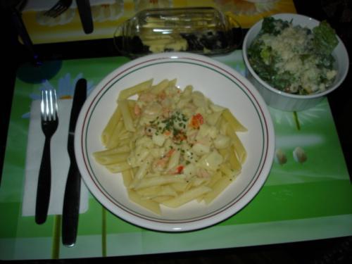 Pennes aux fruits de mer sauce safran e au vin blanc de mabelle passion recettes - Pates aux fruits de mer vin blanc ...