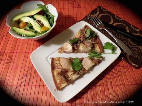 Pizza au canard effiloché  de Messidor