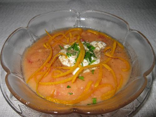 soupe froide la tomate au concombre et l 39 orange de beaubarbu passion recettes. Black Bedroom Furniture Sets. Home Design Ideas