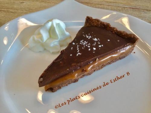 Tarte Au Chocolat Avec Interieur Fondant Au Caramel Sale De Esther B
