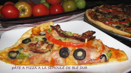 P te a pizza a la semoule de bl de nell passion recettes - Recette pate a pizza italienne fine ...